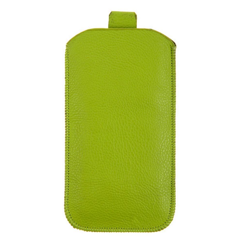 Чехол для сотового телефона IQ Format универсальный, 135*75, с выдвижной лентой, экокожа, светло-зеленый