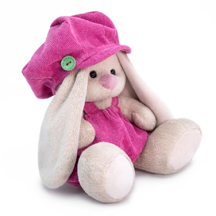 Мягкая игрушка Басик и Ко Зайка Ми малыш в штанишках и кепке, 15 см бежевый
