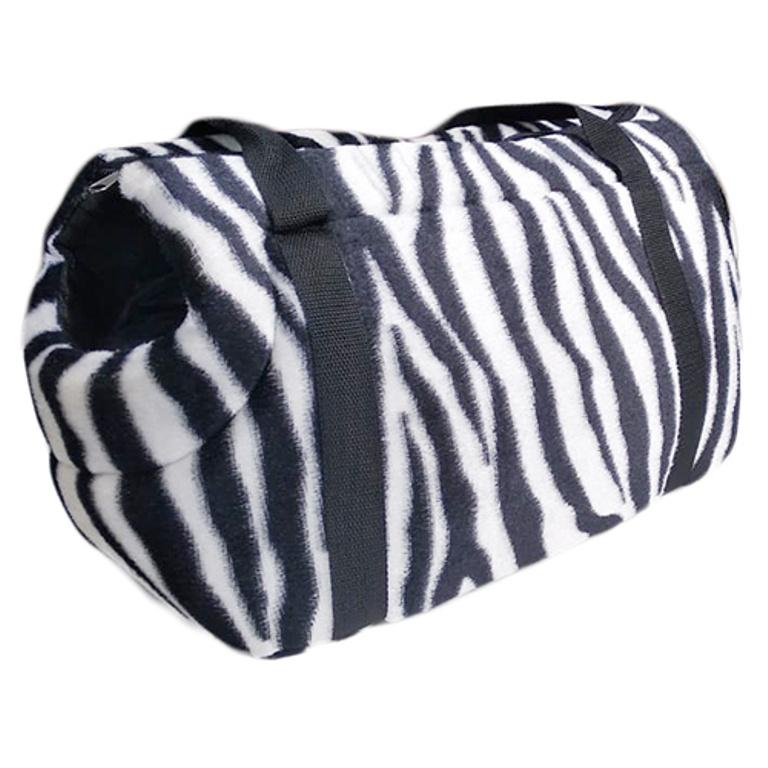 Переноска Теремок Сумка-переноска для животных с горлом, принт зебра, 41*21*25 см, черный, белый сумка переноска для животных pets inn цвет черный