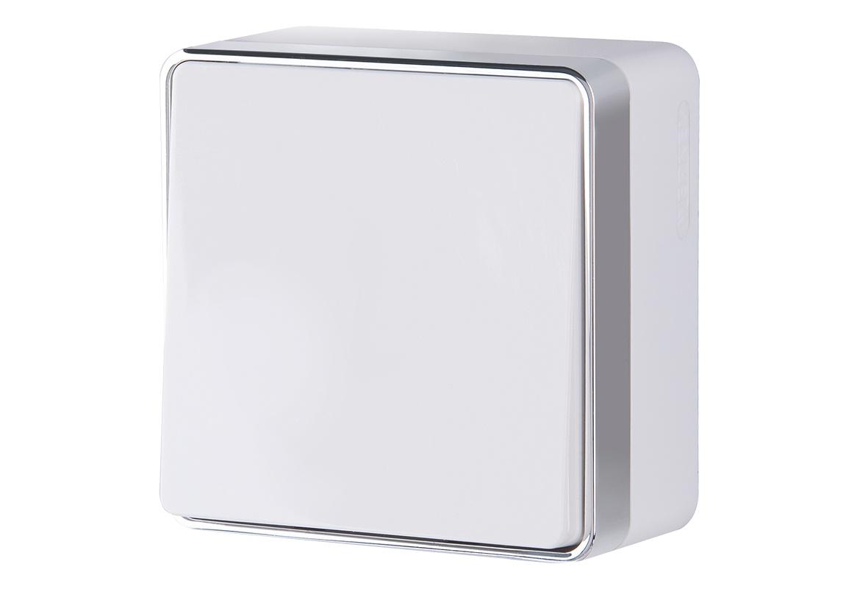 Выключатель Werkel одноклавишный проходной Gallant (белый) WL15-01-03, белый проходной выключатель schneider electric w59 белый сп одноклавишный с рамкой vs616 156 18