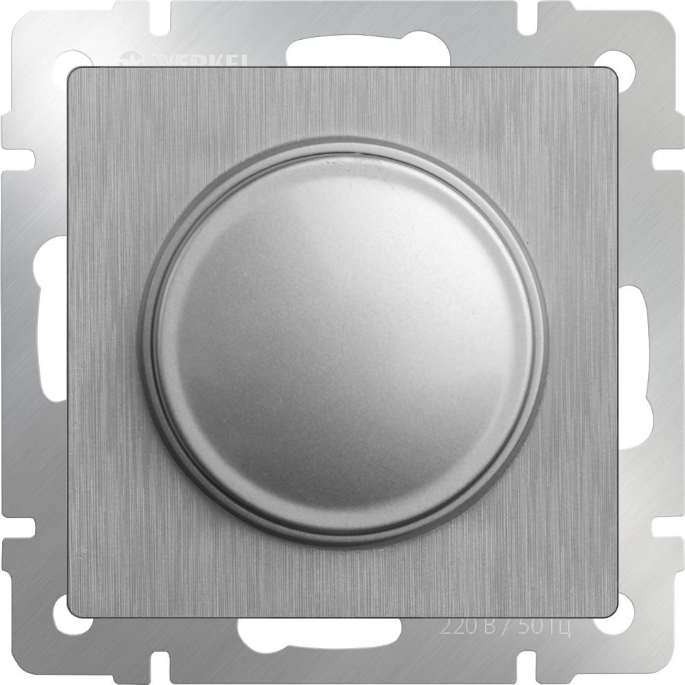 Диммер Werkel (cеребряный рифленый) WL09-DM600, серебристый диммер белый wl01 dm600 4690389045684