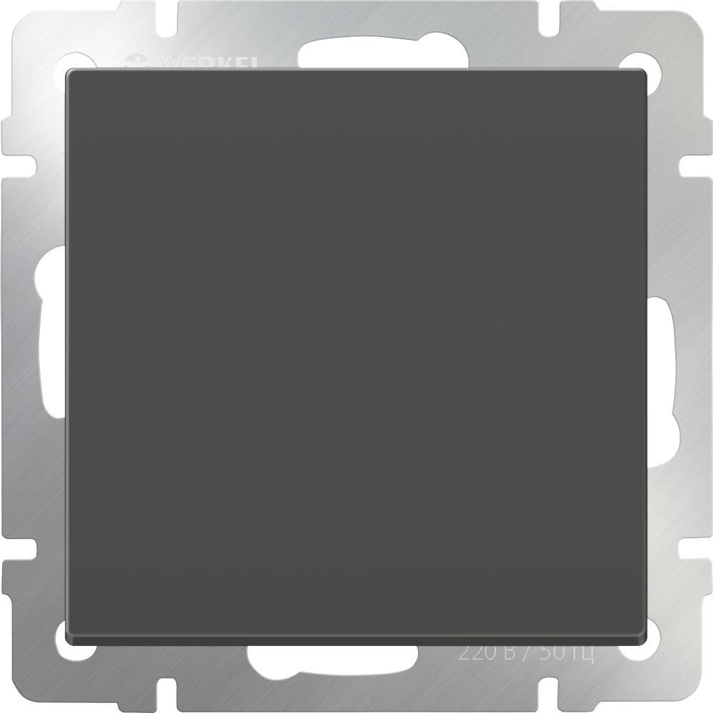WL07-SW-1G-C / Перекрестный переключатель одноклавишный (серо-коричневый) диммера werkel antik серо коричневый wl07 audiox4 wl07 dm600