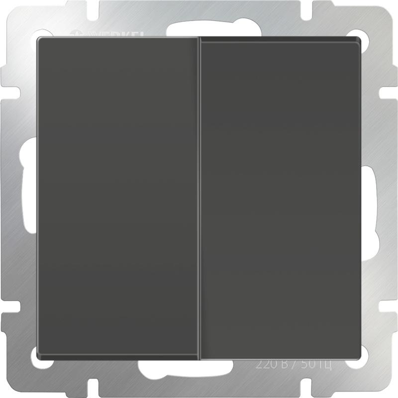 WL07-SW-2G/Выключатель двухклавишный (серо-коричневый) hp v1410 24 2g j9664a