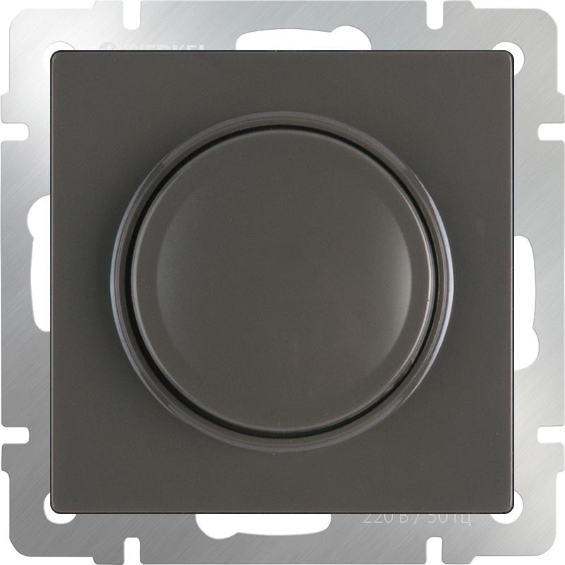 Диммер Werkel (серо-коричневый) WL07-DM600, темно-серый диммера werkel antik серо коричневый wl07 audiox4 wl07 dm600