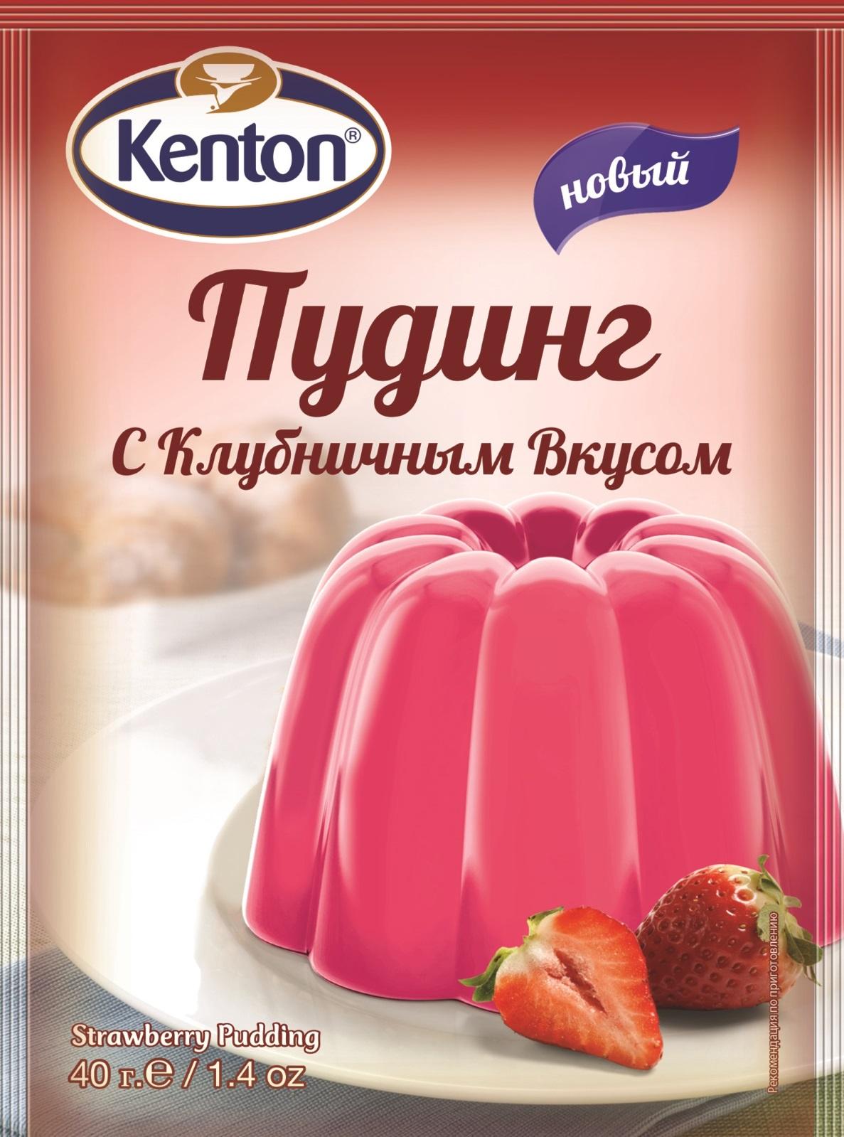 Смесь для выпечки KENTON пудинг с клубничным вкусом, 40 смесь для выпечки почти печенье матча шоколад кокос 370 г