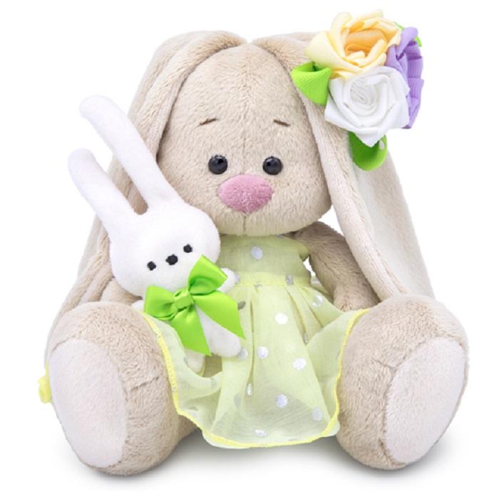 Зайка Ми малыш с зайчиком и нарядным цветком