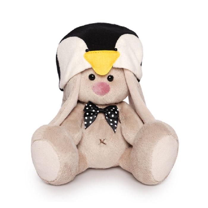 Зайка Ми малыш в шапке пингвина, 15 см