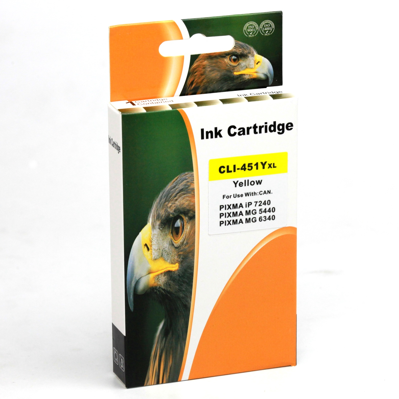 Картридж Inko для CLI-451Y XL желтый повышенной емкости картридж canon cli 451y 6526b001 для canon pixma ip7240 mg6340 mg5440 желтый