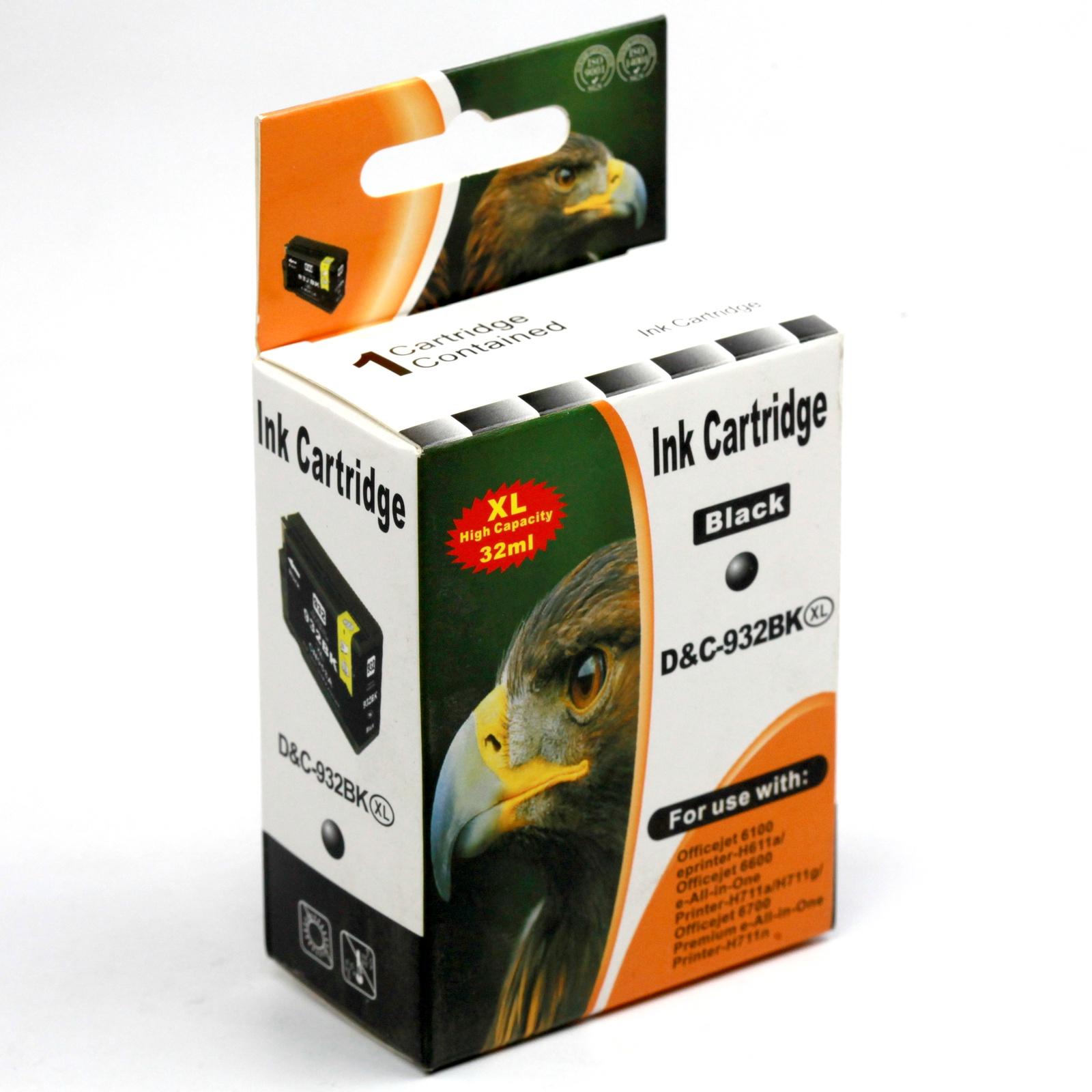Картридж INKO HP 932 XL OfficeJet 6100, 6600, 6700, 7110, 7610, 7612, 7510 черный printer 7612 hp