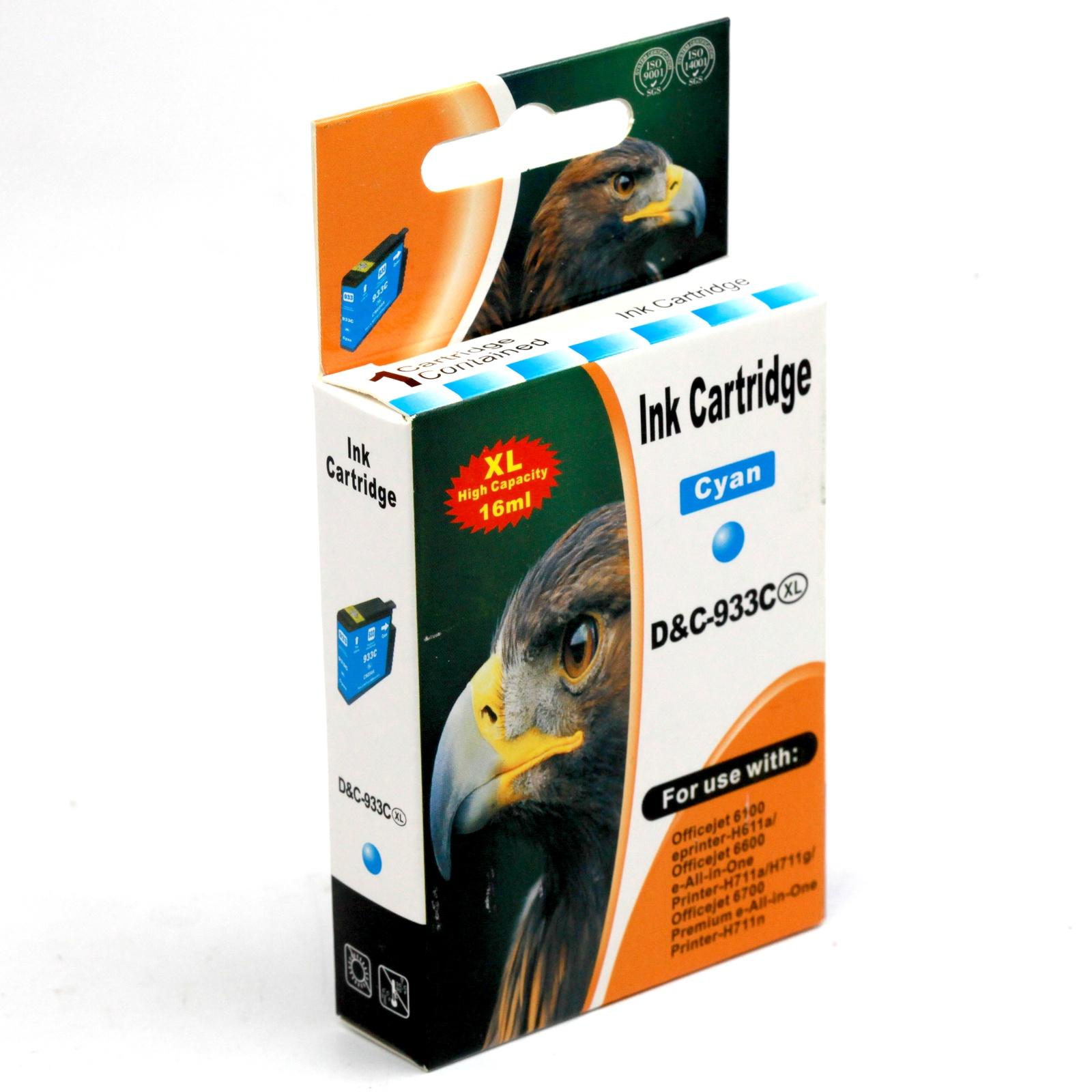 Картридж INKO HP 933 XL OfficeJet 6100, 6600, 6700, 7110, 7610, 7612, 7510 голубой printer 7612 hp