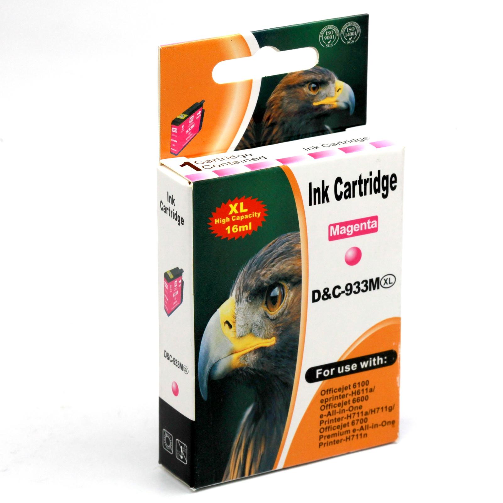 Картридж INKO HP 933 XL OfficeJet 6100, 6600, 6700, 7110, 7610, 7612, 7510 пурпурный printer 7612 hp