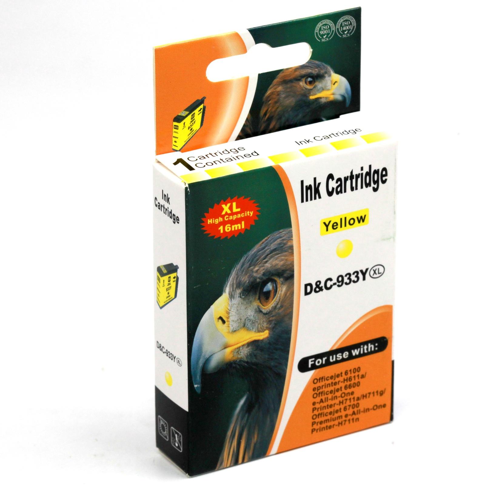 Картридж INKO HP 933 XL OfficeJet 6100, 6600, 6700, 7110, 7610, 7612, 7510 желтый printer 7612 hp