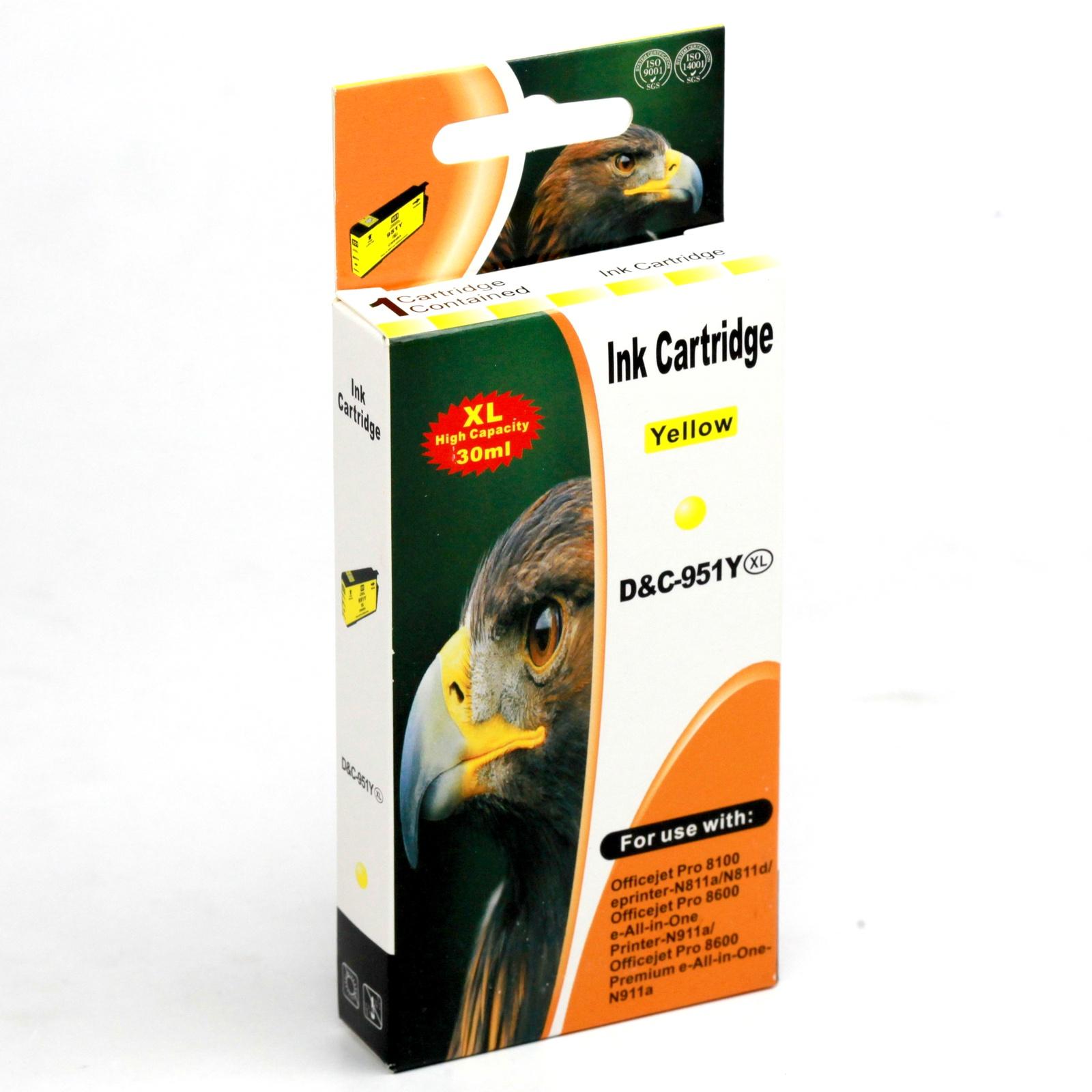 Картридж INKO HP 951 XL OfficeJet Pro 8100, 8600, 8610, 8615, 8620, 8630, 8640 желтый
