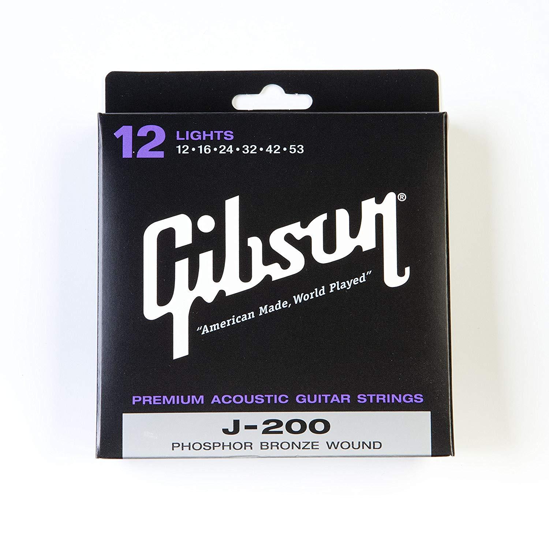 GIBSON SAG-J200L PREMIUM струны для акустической гитары (12-53) gibson sag mb12 masterbuilt phosphor br 012 052