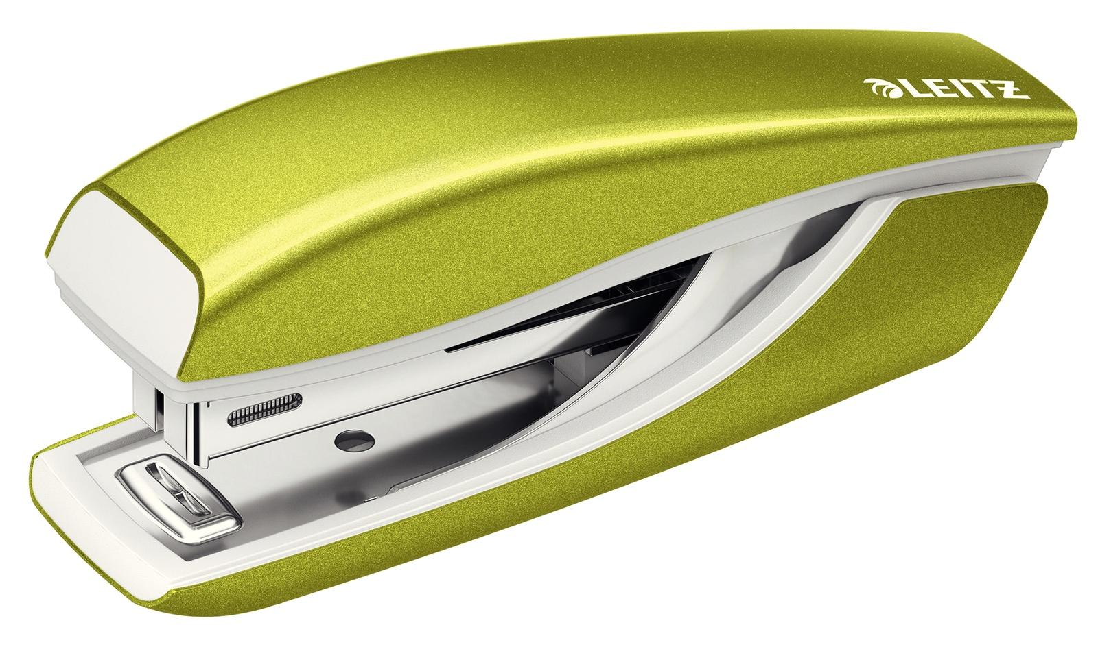 Премиум-степлер металлический Leitz NeXXt WOW, 10 листов, зеленый металлик