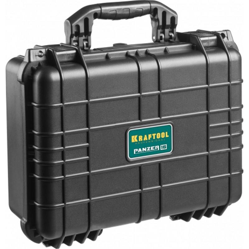 Ящик для инструментов KRAFTOOL PANZER 16 набор инструментов kraftool для обслуживания велосипеда 16 в 1 26182 h16