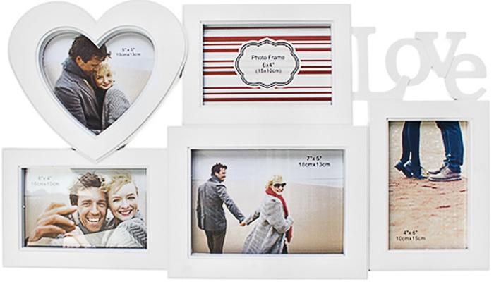 Фоторамка Red Cube Любовь, белый рамка для 5 ти фото мечта