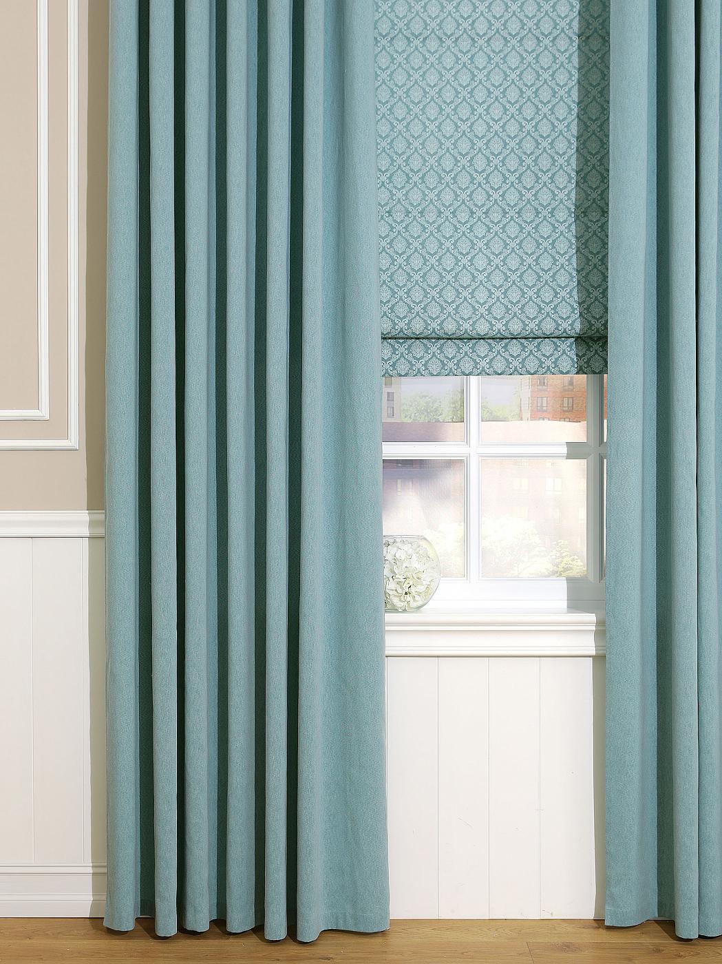Штора Томдом Рамбус, бирюзовый шторы томдом классические шторы хайм цвет бежевый