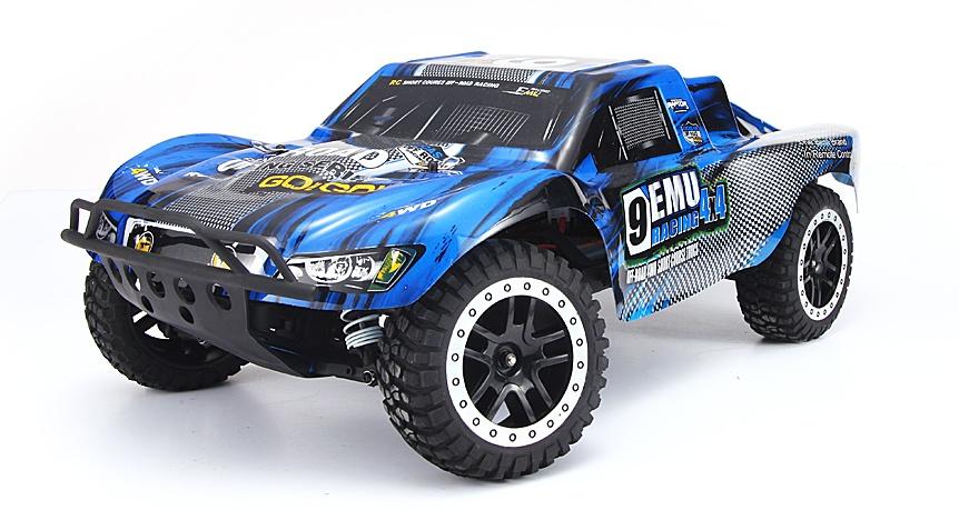 Машинка радиоуправляемая Remo Hobby Шорт-корс трак 9EMU Racing 4WD 2.4Ghz RTR синий