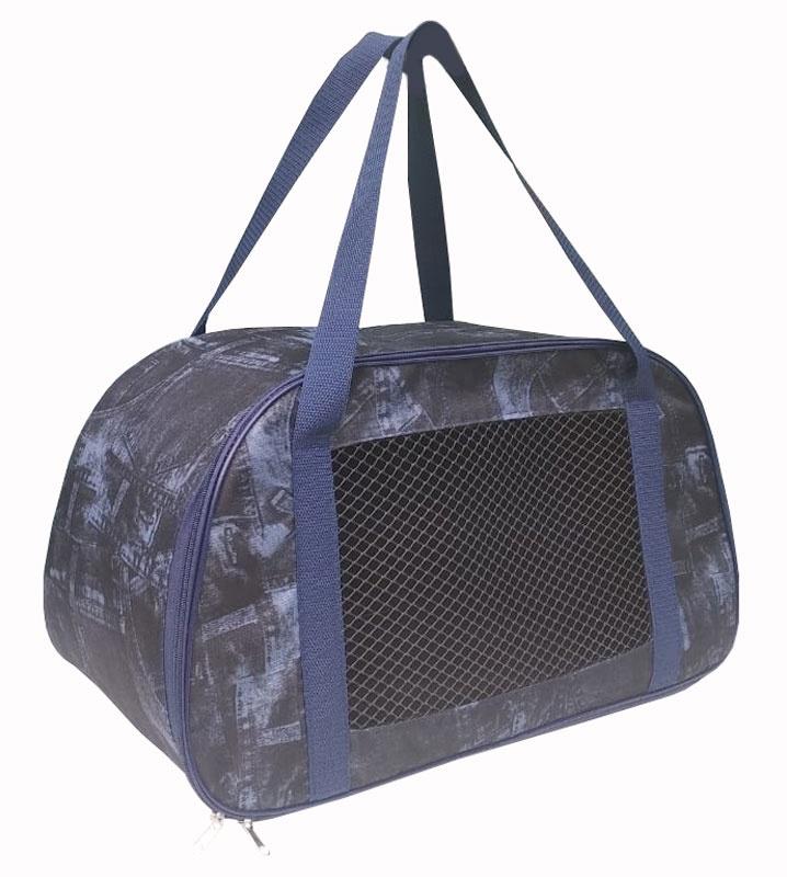 Сумка-переноска для животных трапеция, принт джинса, 28*30*53 см. переноска теремок сумка переноска для животных трапеция 28 30 53 см темно зеленый