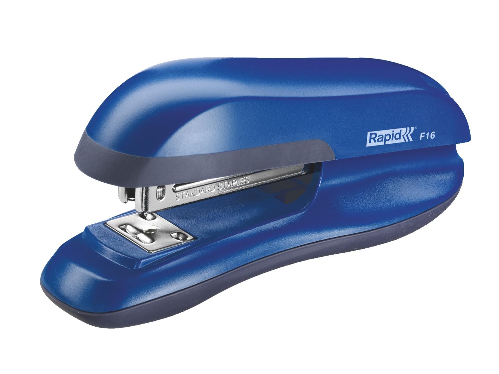 Степлер Rapid Настольный Halfstrip F16, до 30 листов, синий