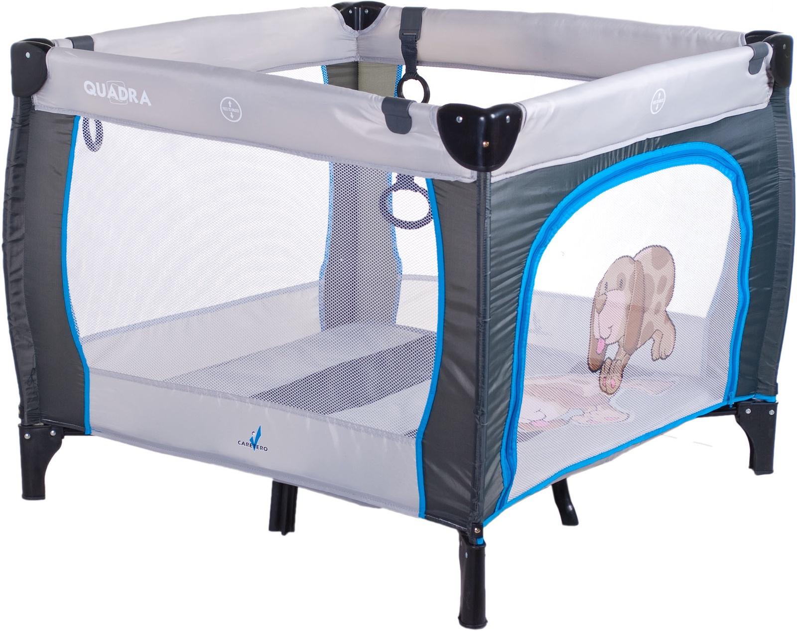Манеж CARETERO TERO-3994 серый стул caretero one blue tero 7230