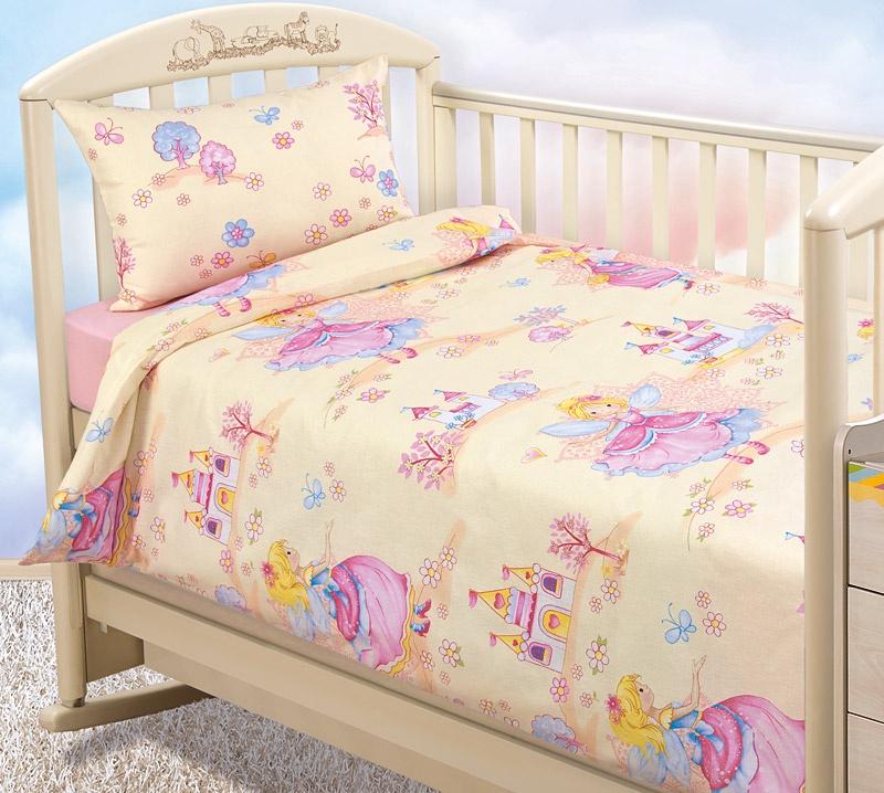 """Комплект в кроватку Текс Дизайн """"Бамбино"""" из бязи с простыней на резинке, Бэль, размер: ясли"""