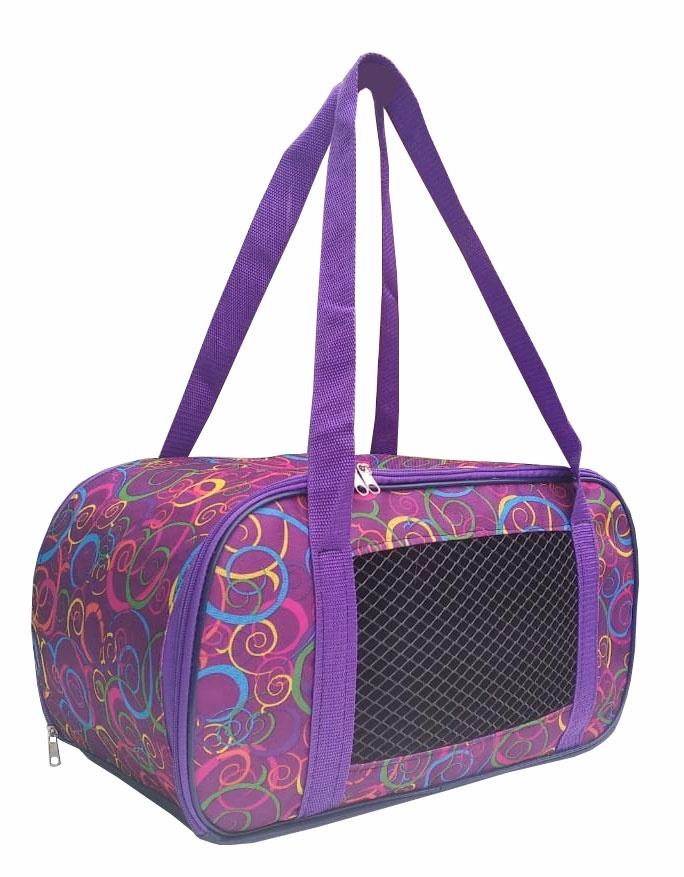 Переноска Теремок Сумка-переноска для животных овальная малая, цвет сиреневый, 42*20*22 см., сиреневый сумка переноска для животных теремок размер 50х28х30см
