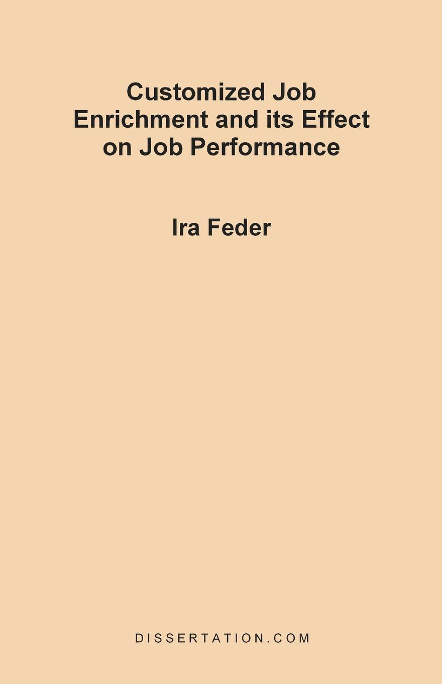 Ira Feder Customized Job Enrichment and Its Effect on Job Performance fm radio language and its effect on the young listeners
