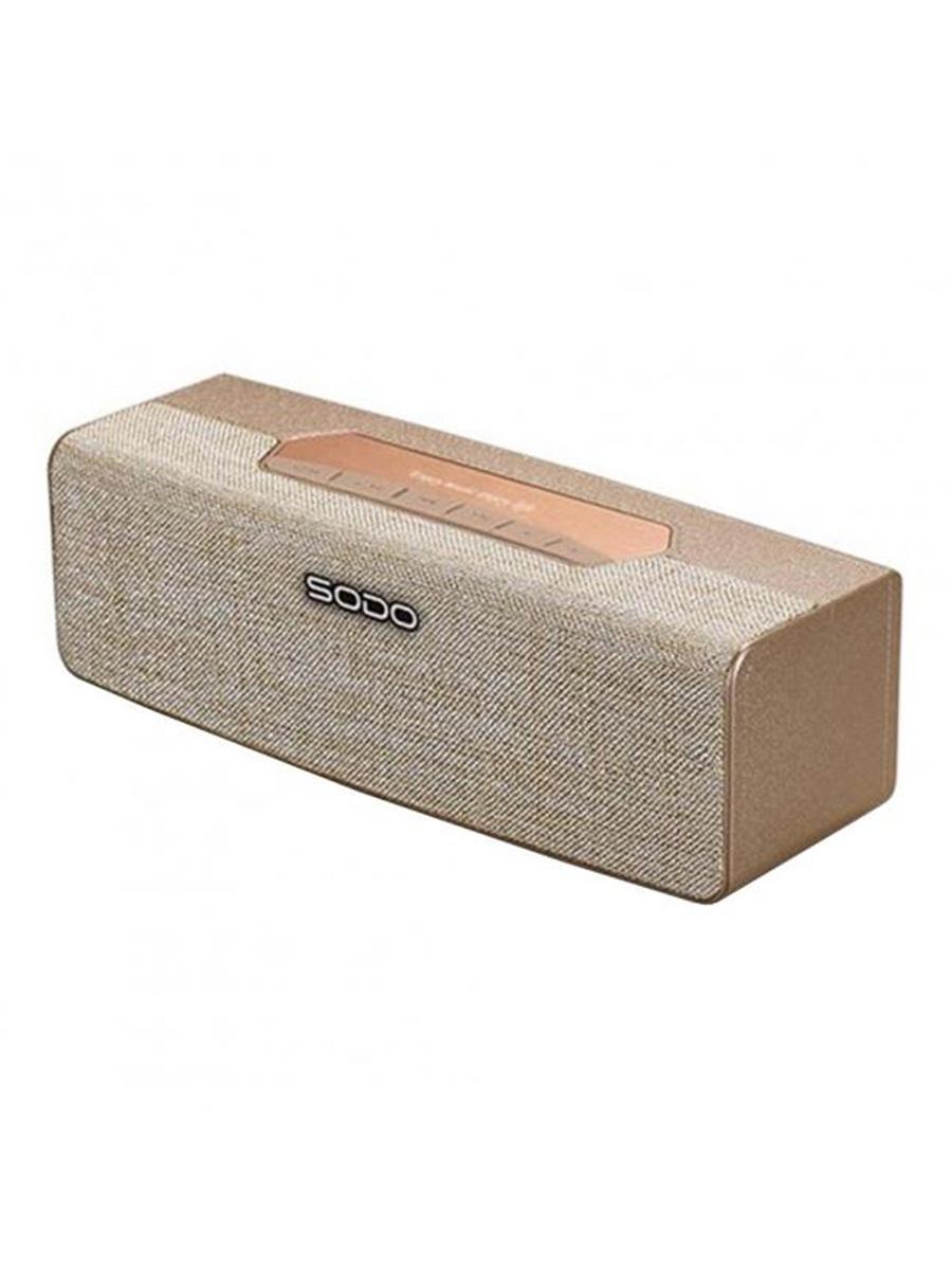 Беспроводная колонка SODO L2, золотой музыка на телефон