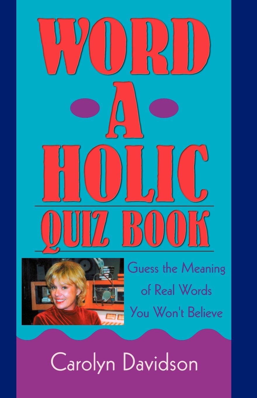 цены на Carolyn Davidson Word-A-Holic Quiz Book  в интернет-магазинах