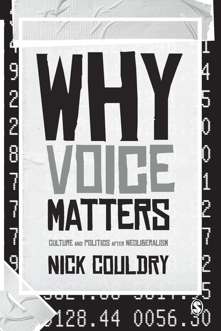 Nick Couldry Why Voice Matters richard thomas f why dylan matters