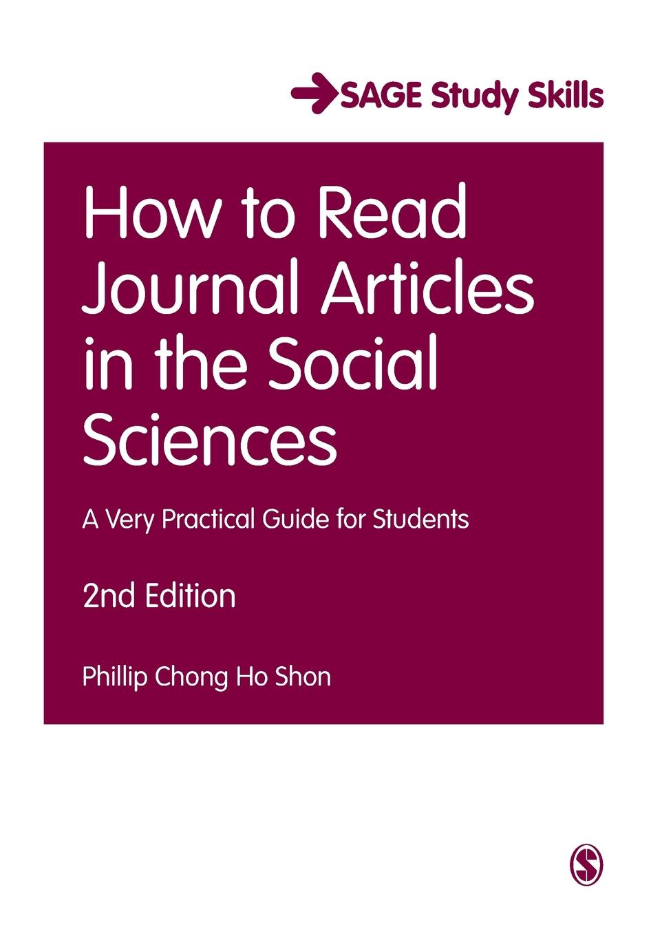 Phillip Chong Ho Shon How to Read Journal Articles in the Social Sciences charles manski identification problems in the social sciences paper