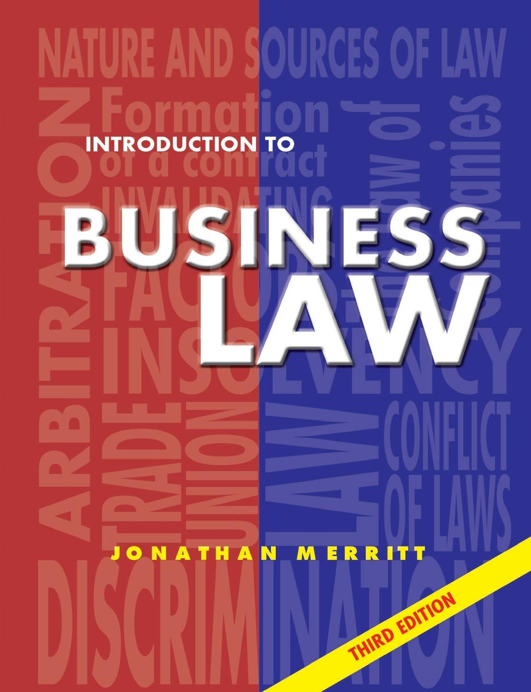 J. G. Merritt, Jonathan Merritt Introduction to Business Law 3rd Ed. Third Edition clifford chane russian business law compendium 3