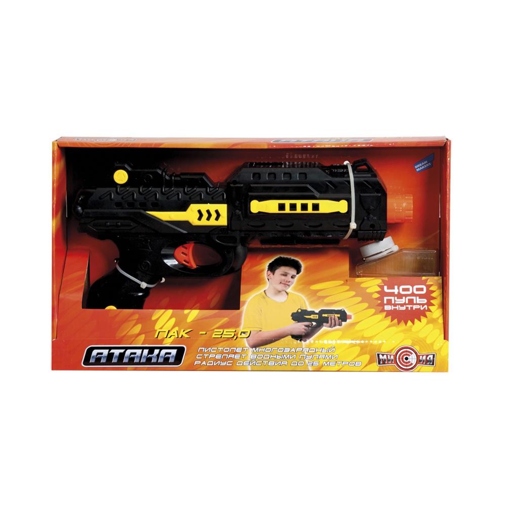 Пистолет игрушечный Dream Makers M01+ черный, желтый пистолет edison с мишенями и пульками western line west colt 28 см пульки