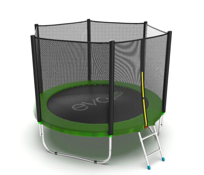 Батут с внешней сеткой и лестницей EVO JUMP External 8ft (Green) цена и фото