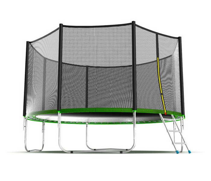 Батут EVO JUMP External 12ft (Green) с внешней сеткой и лестницей, диаметр 12ft (зеленый) цены