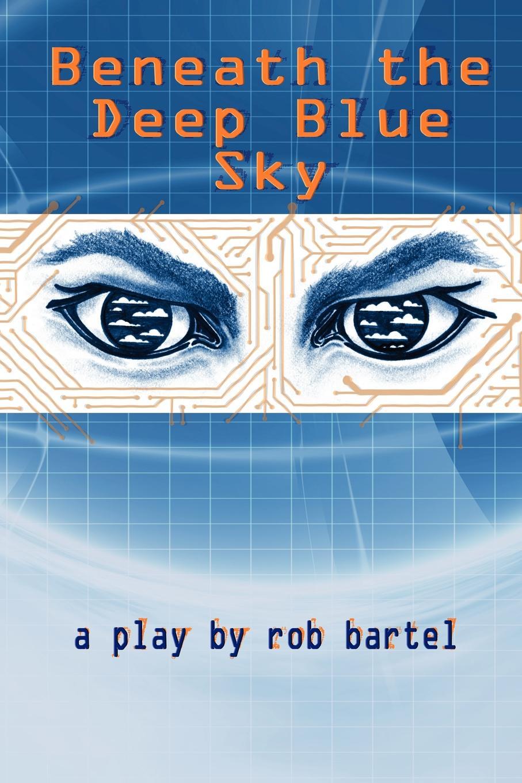 Rob Bartel Beneath the Deep Blue Sky stylish plunging neck sleeveless deep blue denim women s dress