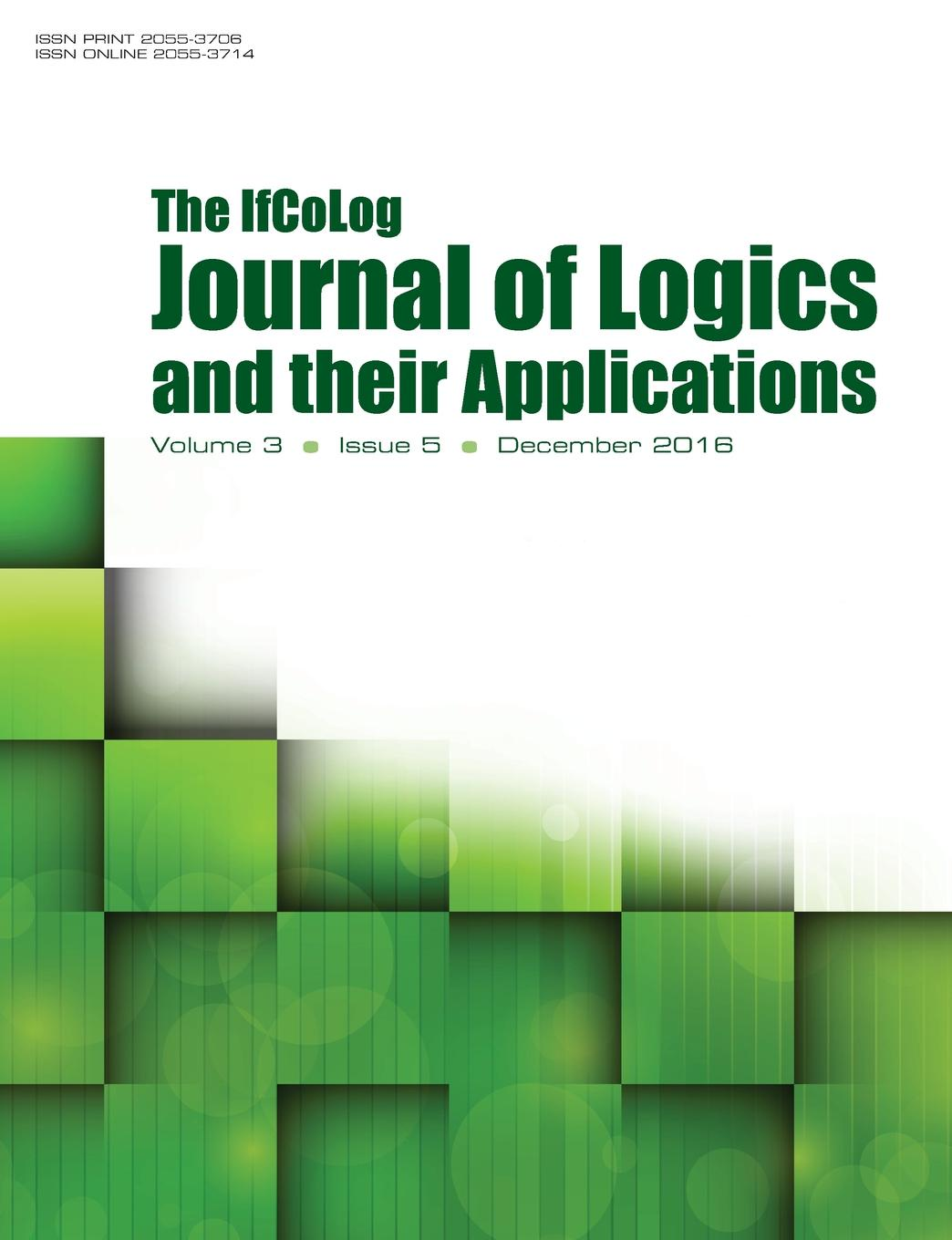 Ifcolog Journal of Logics and their Applications Volume 3, number 5
