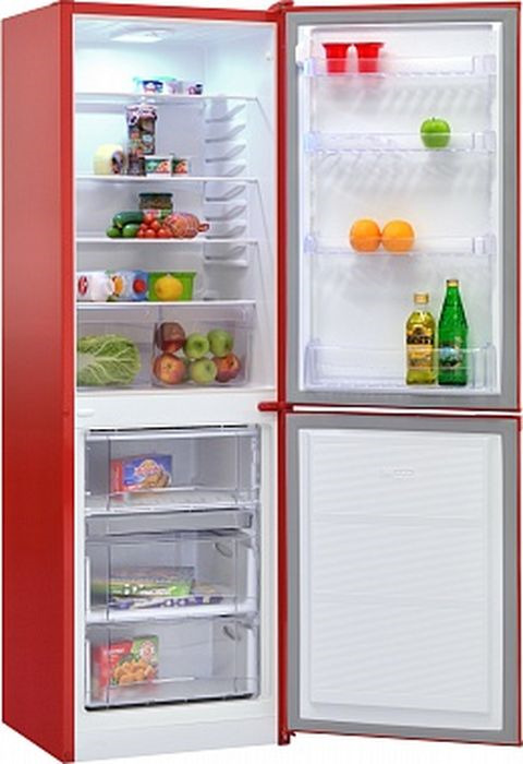 Фото - Холодильник Nordfrost NRB 119 832, двухкамерный, красный двухкамерный холодильник hitachi r vg 472 pu3 gbw
