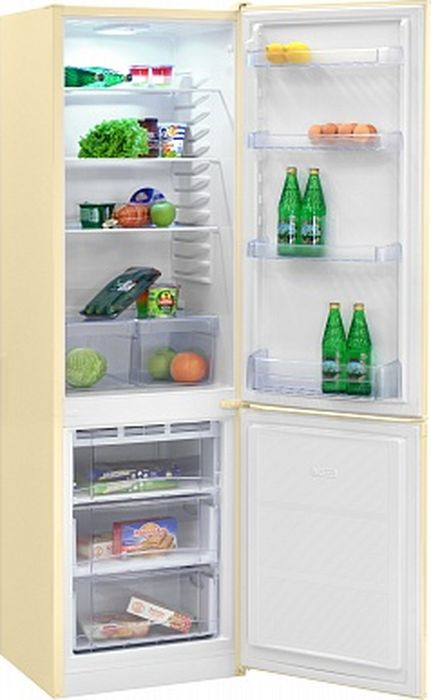 Фото - Холодильник Nordfrost NRB 120 732, двухкамерный, бежевый двухкамерный холодильник hitachi r vg 472 pu3 gbw