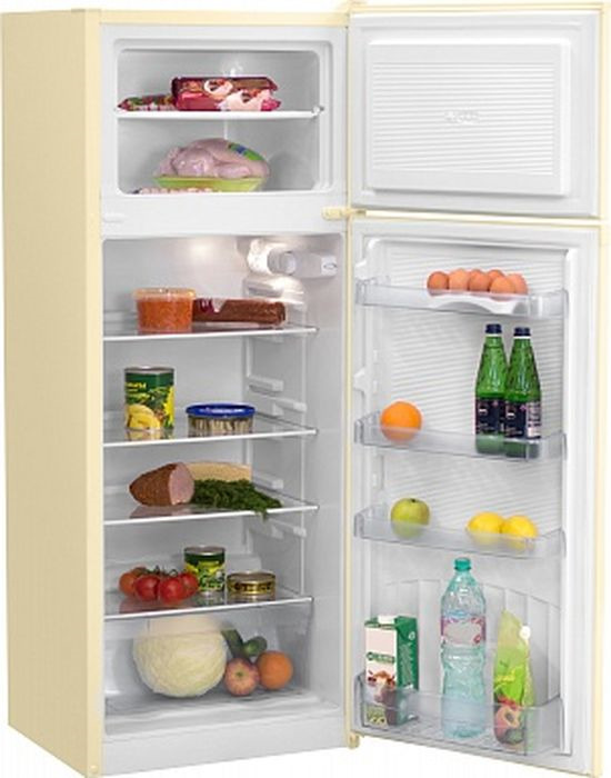 Фото - Холодильник Nordfrost NRT 141 732, двухкамерный, бежевый двухкамерный холодильник hitachi r vg 472 pu3 gbw