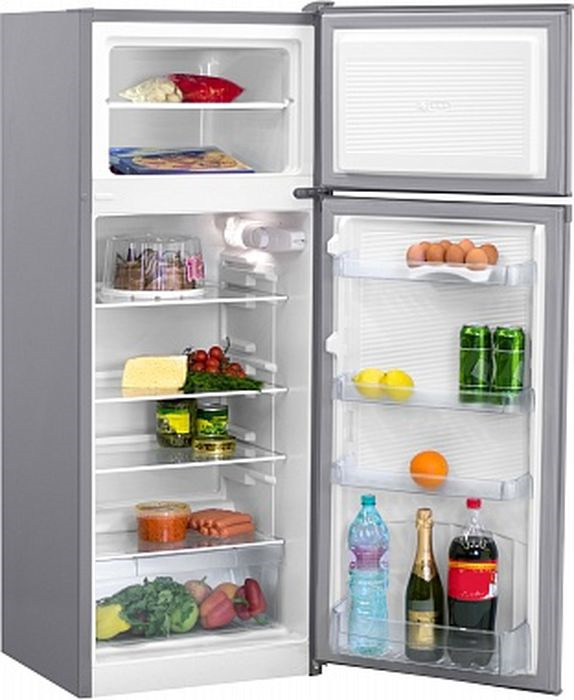 Холодильник Nordfrost NRT 141 332, двухкамерный, серебристый металлик цены