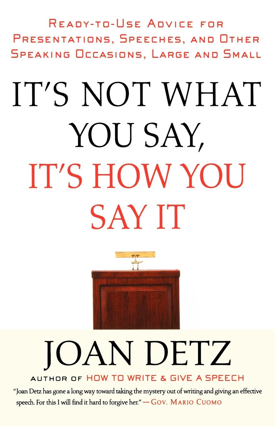 Joan Detz It's Not What You Say, It's How You Say It can you say it too twit twoo