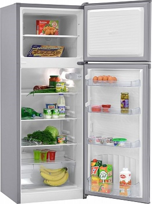 Холодильник Nordfrost NRT 145 332, двухкамерный, серебристый металлик цены