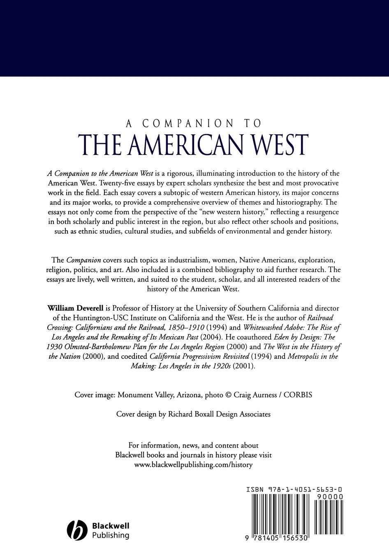 A Companion to the American West недорого