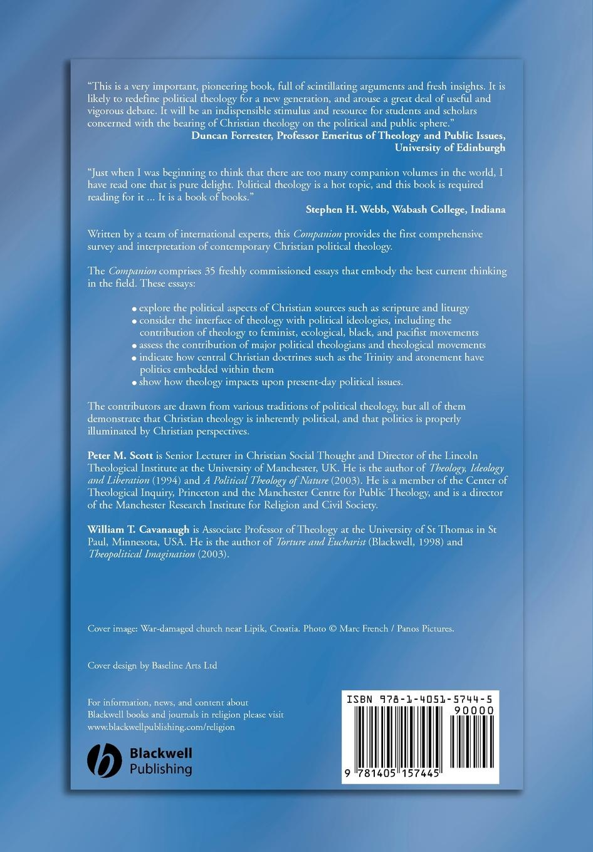 Scott, Cavanaugh WT Blackwell Companion Political Theology orlando espin o the wiley blackwell companion to latino a theology