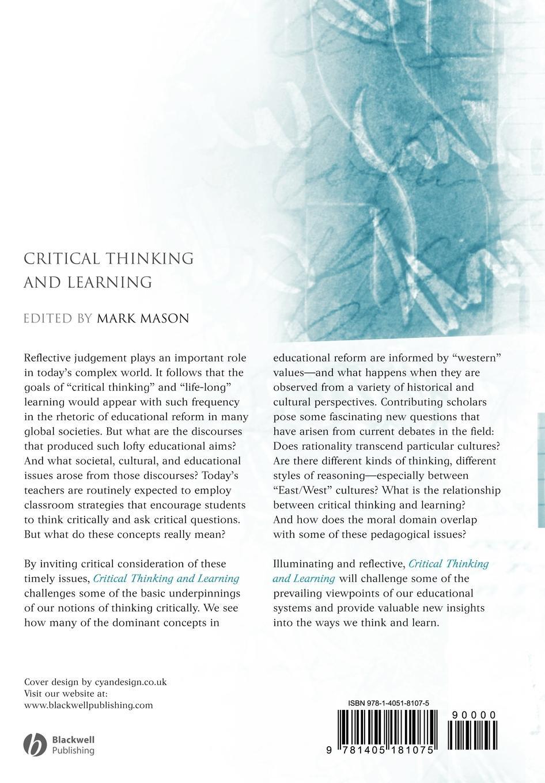 купить MASON Critical Thinking and Learning по цене 4639 рублей