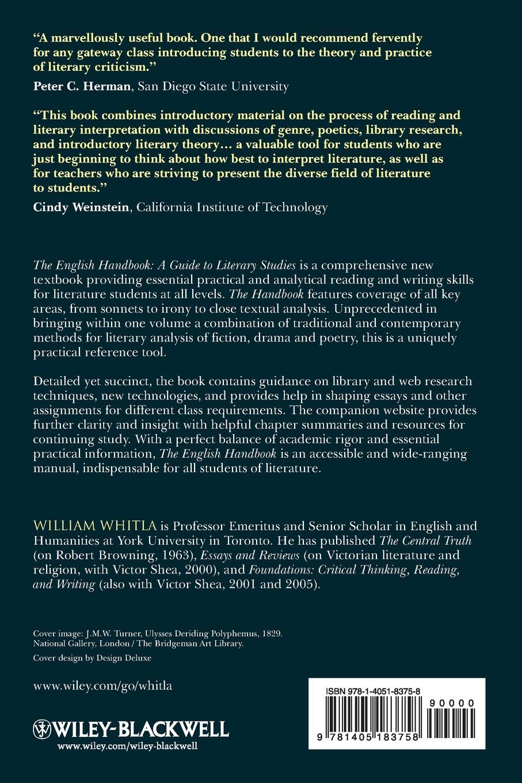 William Whitla The English Handbook. A Guide to Literary Studies the oxford handbook of animal studies