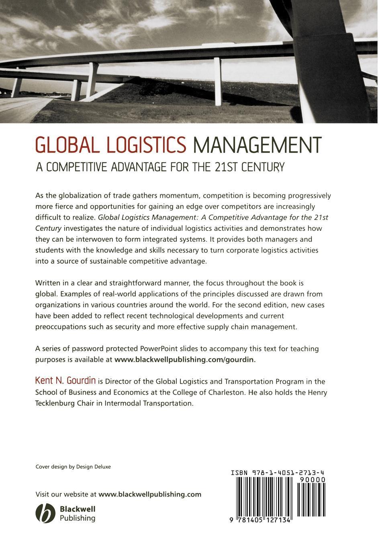 Gourdin Global Logistics Management 2e business logistics management